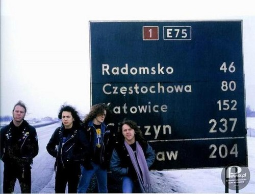 metallica fondo de pantalla with a sign titled metallica in Poland - February 1987