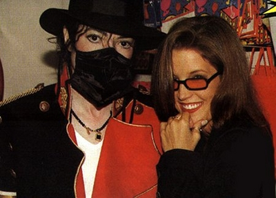 Michael And Lisa Marie Presley In 伦敦 Back In 1997