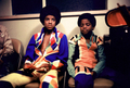 Michael And Younger Brother, Randy, Backstage - michael-jackson photo