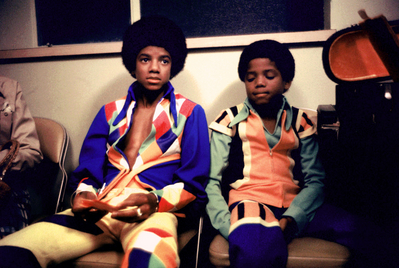 Michael And Younger Brother, Randy, Backstage