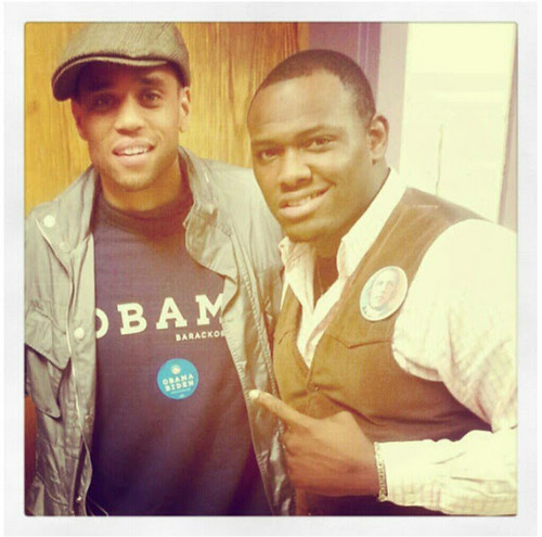 Michael Ealy and rapper KINGDRO