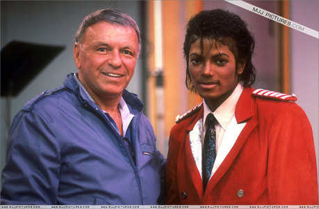 Michael In The Recording Studio With Frank Sinatra