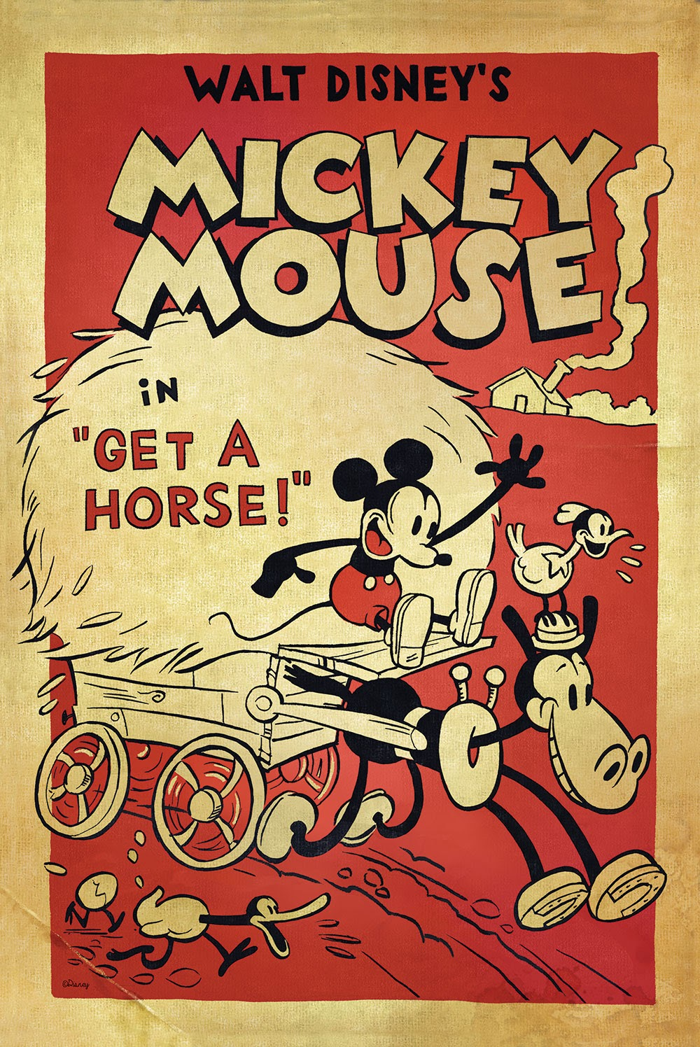 "Mickey topo, mouse in ""Get a Horse"" Poster"
