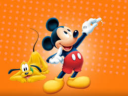 Mickey and Pluto