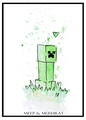 Minecraft Art - the-minecraft-creeper fan art
