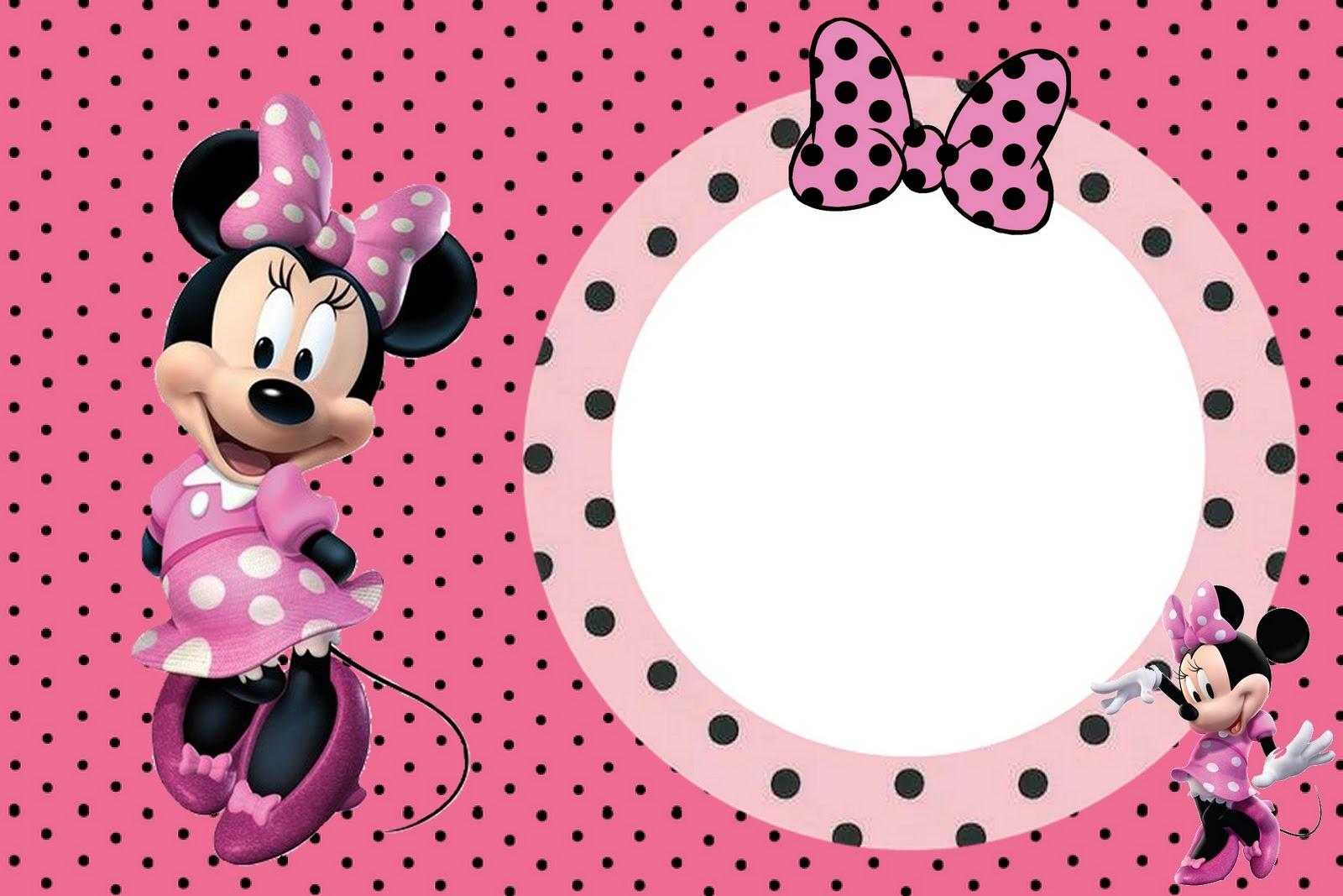 Invitaciones Para Baby Shower De Minnie Mouse