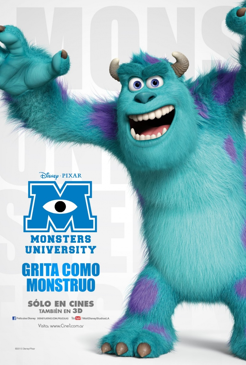 Monsters inc monsters university posters