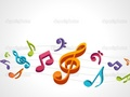 Music notes - singing photo