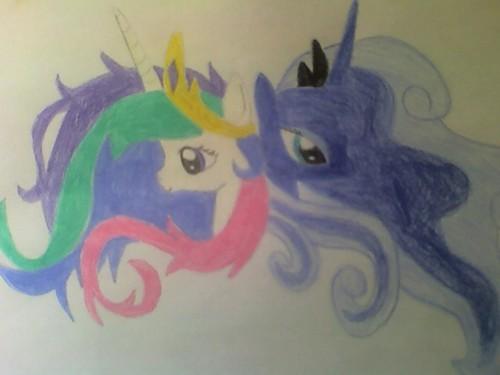 My Celestia and Luna fã Art