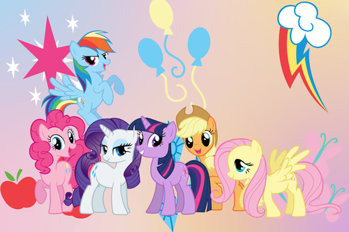 My Little pony - Freundschaft ist Magie Hintergrund possibly with Anime called My Little pony Hintergründe