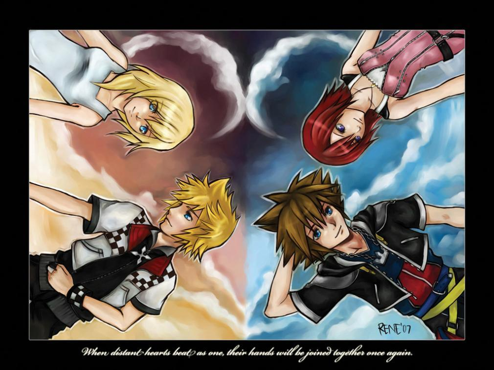Kingdom Hearts Namine And Kairi Anime Namine, Roxas, ...