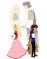 Odette and Derek - swan-princess fan art