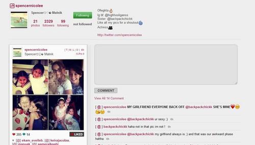 Paris Jackson and her best friend Spencer Malnik on instagram cute 2012 ♥♥