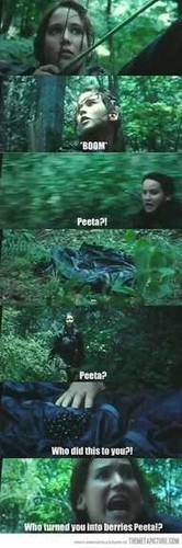 Peeta turned to berries