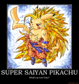 pikachu Super saiyan?? (Dragon ball Z)