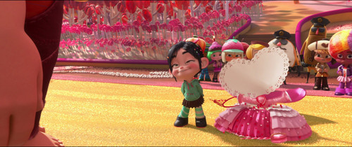 Vanellope von Schweetz karatasi la kupamba ukuta probably containing a bouquet called President Vanellope Von Schweetz