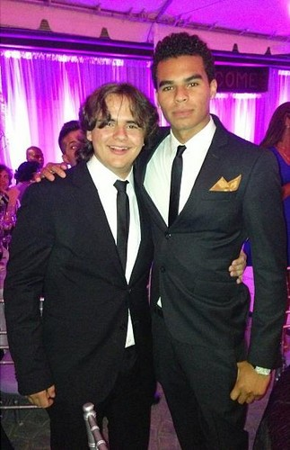 Prince Jackson and his cousin Randy Jackson Jr at their cousin Taj Jackson's wedding 2013 ♥♥