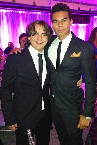 Prince Jackson at the wedding of Taj Jackson