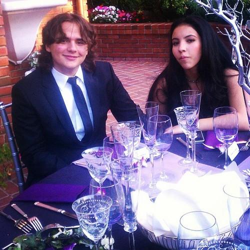 Prince and his girlfriend at the wedding of Taj Jackson