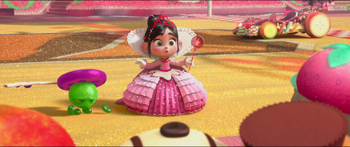 Vanellope von Schweetz wolpeyper possibly containing an easter egg, a parasol, and a kendi egg called Princess Vanellope Von Schweetz