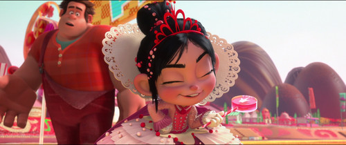Vanellope von Schweetz achtergrond possibly with a bouquet and a bridesmaid titled Princess Vanellope Von Schweetz