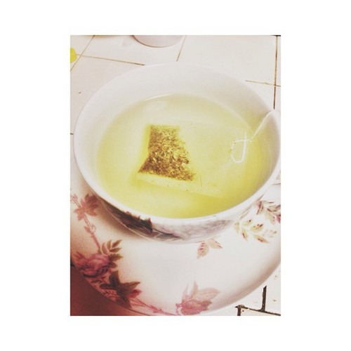 "Princeton said in webstagram ""  Leave me and my Tea alone ? "" :D <3"