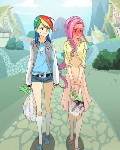 upinde wa mvua Dash and Fluttershy