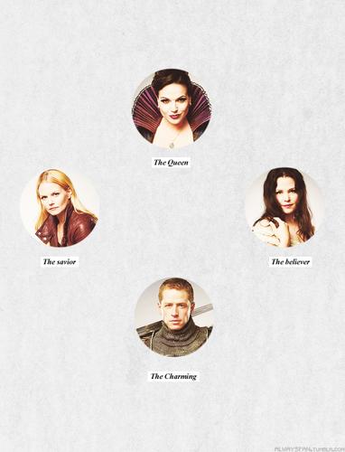 Regina, Snow, Charming & Emma