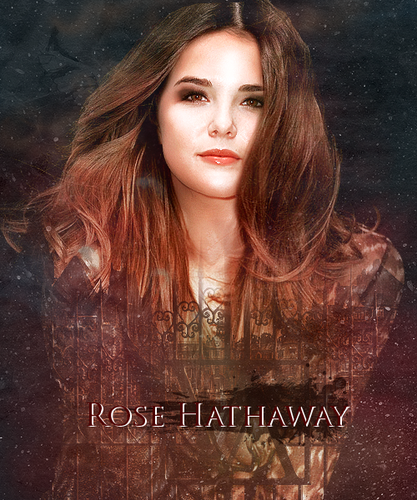 The Vampire Academy Blood Sisters achtergrond possibly containing a portrait called Rose Hathaway