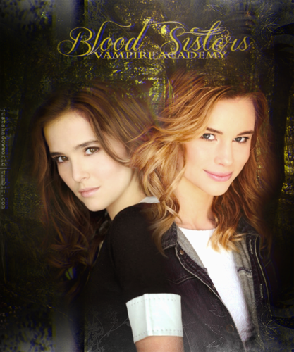 The Vampire Academy Blood Sisters Hintergrund with a portrait called Rose & Lissa