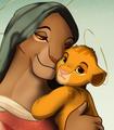 Sarabi and Baby Simba