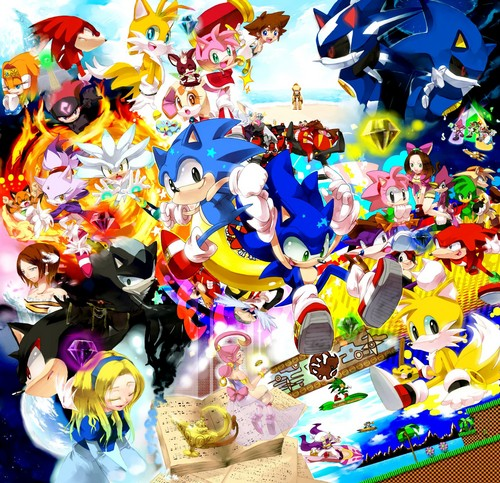 Sonic and the rest of the gang