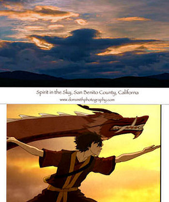 Avatar: The Last Airbender پیپر وال possibly with a sunset titled Spirit in the Sky