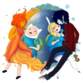 Sun Bear (Finname) and Moon Bunny (FioLee) - adventure-time-with-finn-and-jake photo