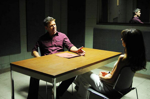 The Glades 壁紙 probably containing a drafting 表, テーブル and a boardroom entitled The Glades// 4x04 Magic Longworth