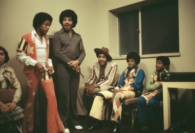 The Jackson 5 And Joe Jackson Backstage