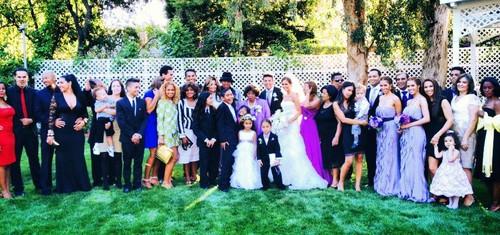 The Jackson Family at Taj Jackson and Thayana's wedding 2013 ♥♥