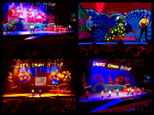 THE WIGGLES fondo de pantalla possibly with a stained glass window called The Wiggles Live Hot Potatoes