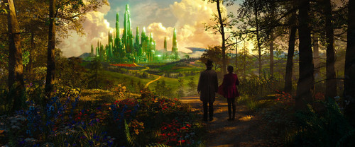 OZ: The Great and Powerful wallpaper with a beech, a live oak, and a sitka spruce called To the Emerald City