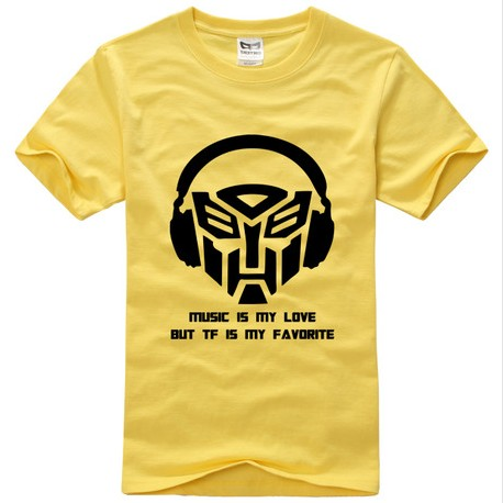 Transformers musique is My l'amour logo short sleeve t chemise