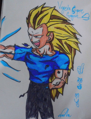 Vegeta super saiyan 3 (become a fan of it ,if toi l'amour Vegeta)
