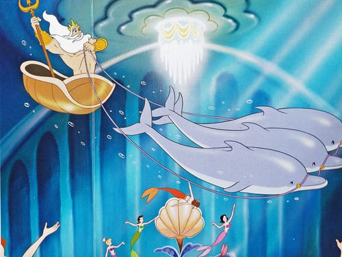 Walt Disney Book Images - King Triton, Princess Andrina, Princess Adella, Princess Attina & Princess