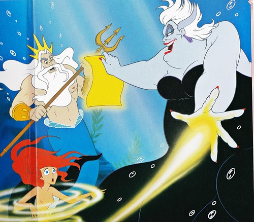 Walt Дисней Book Обои - King Triton, Princess Ariel & Ursula