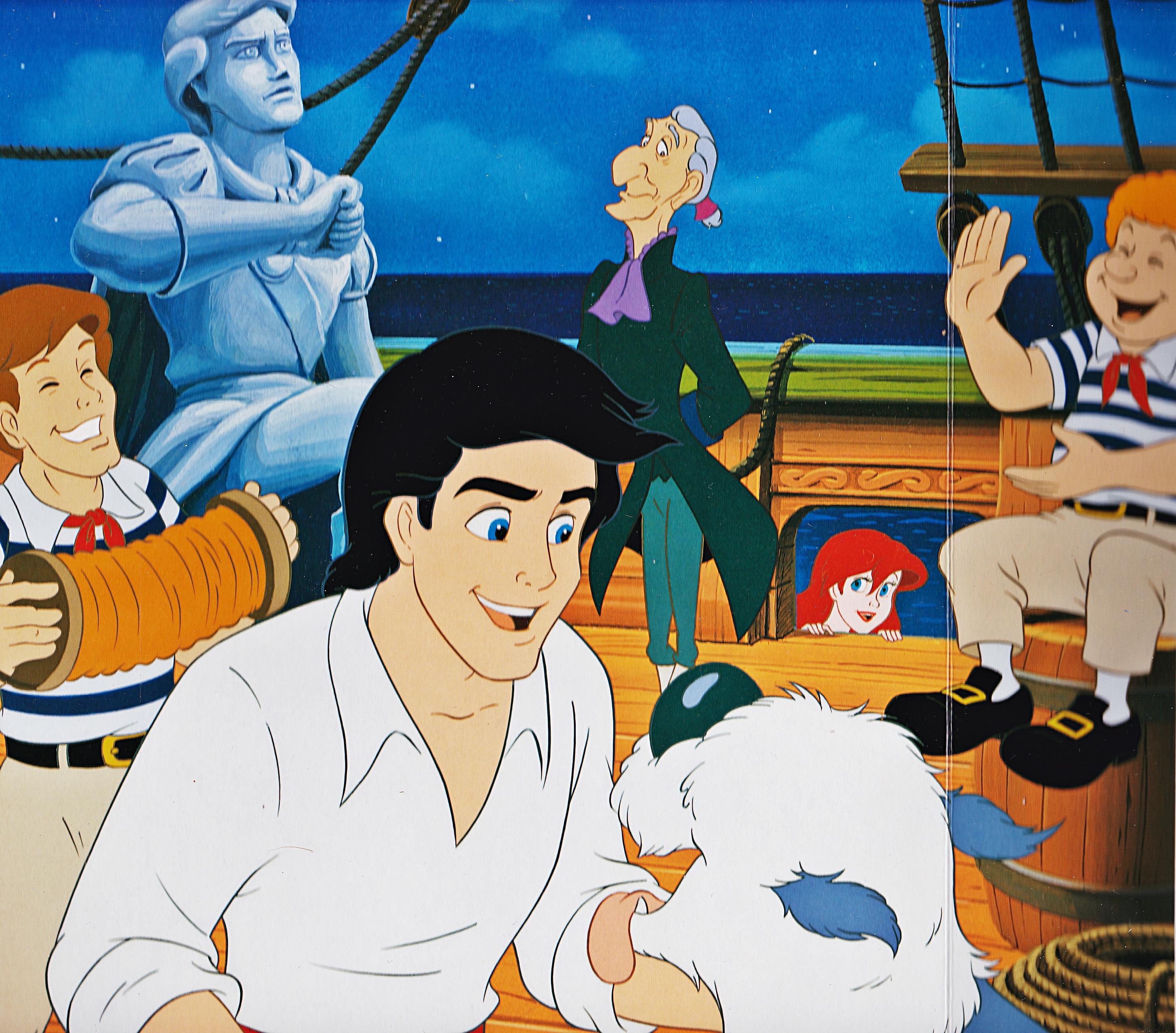 Walt Disney Book Images - Prince Eric, Max, Sir Grimsby & Princess Ariel