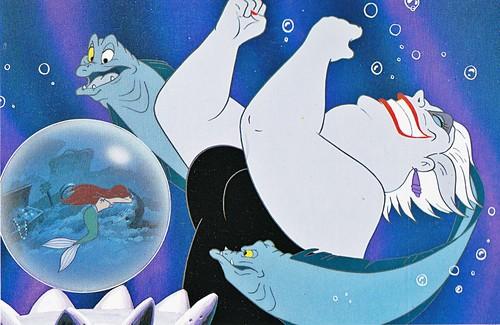 Walt ডিজনি Book প্রতিমূর্তি - Princess Ariel, Flotsam, Ursula & Jetsam