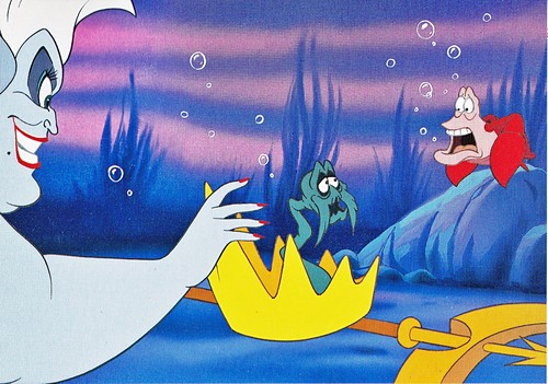 Walt Disney Book Images - Ursula, King Triton & Sebastian