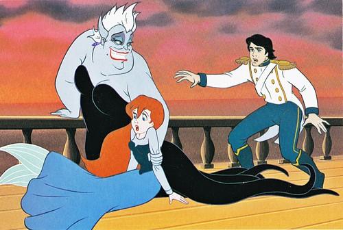 Walt Disney Book picha - Ursula, Princess Ariel & Prince Eric