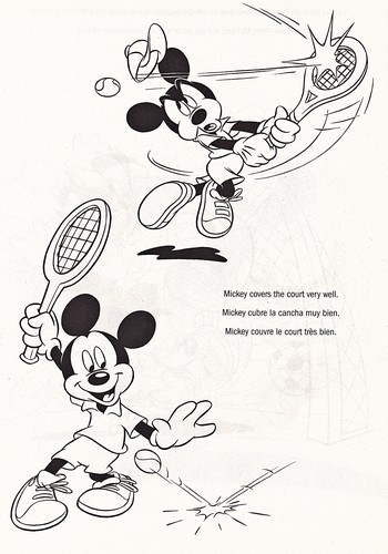 Walt Дисней Coloring Pages - Mickey мышь