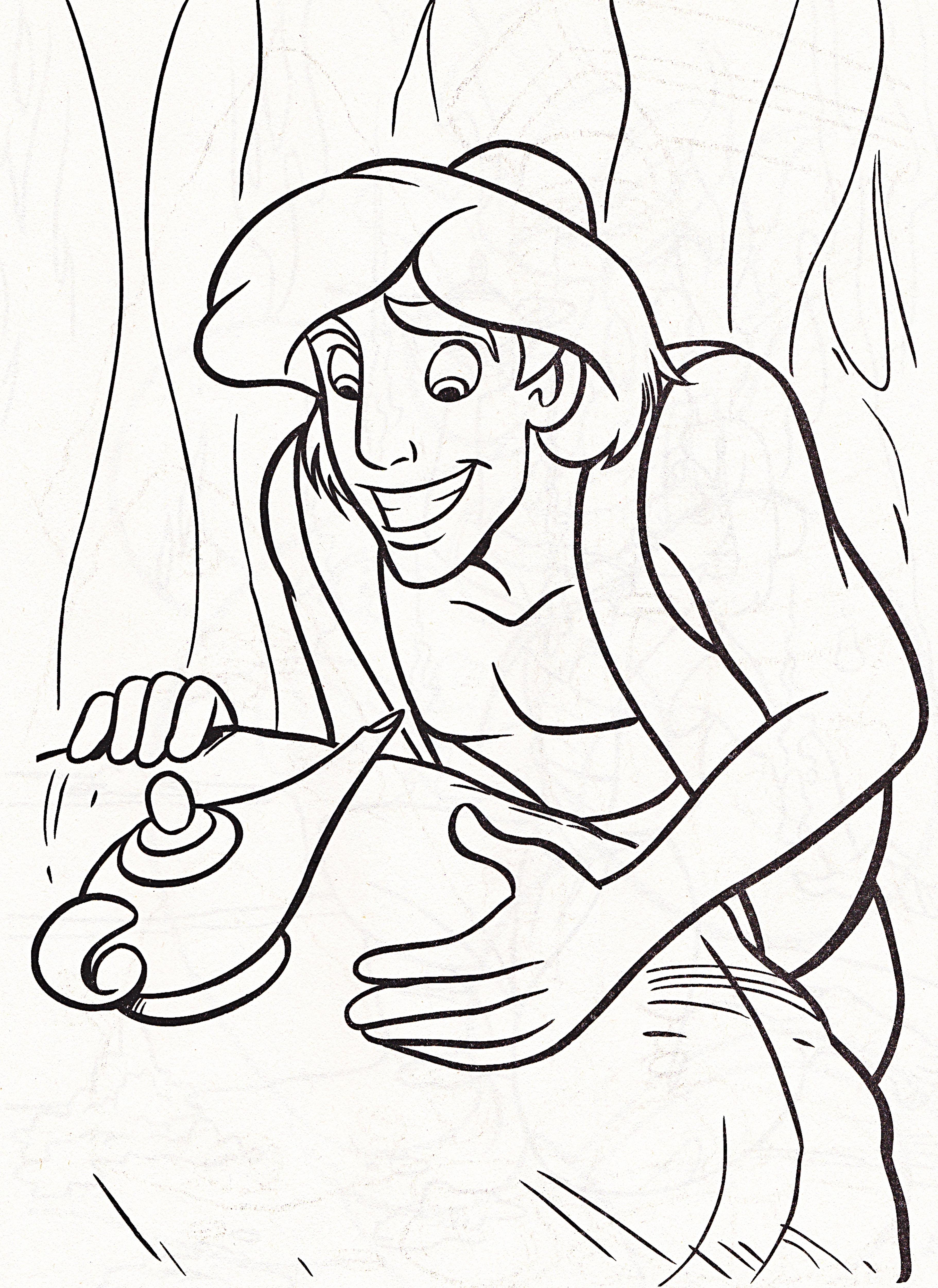 Walt Disney Coloring Pages - Prince Aladdin