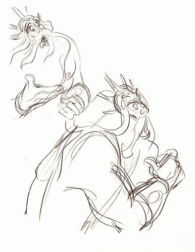 Walt Disney Sketches - King Triton